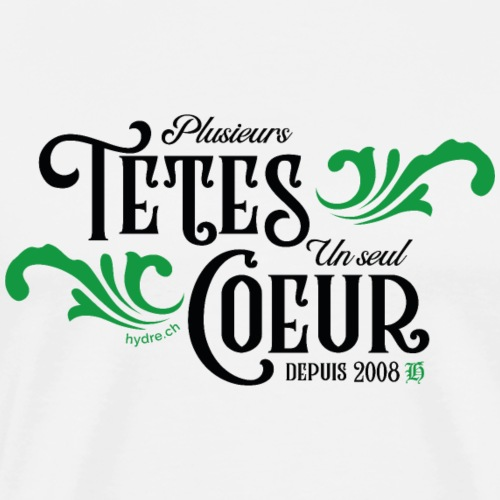 Devise - Style Volute (noir/vert) - T-shirt Premium Homme