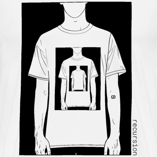 Recursion | Loop | Repeat | Optical illusion - Mannen Premium T-shirt