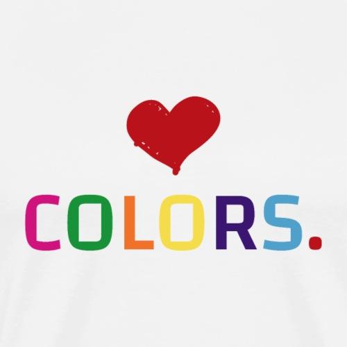 Colors lover - color love - T-shirt Premium Homme