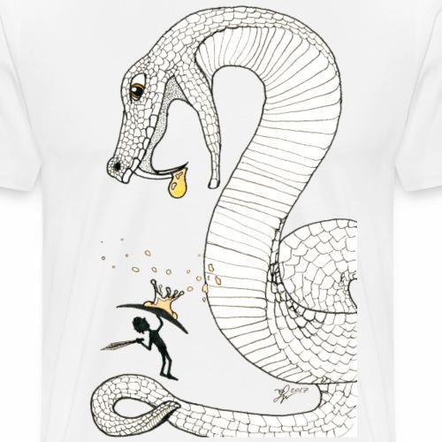 Gift - Kampf gegen eine giftige Riesenschlange - Männer Premium T-Shirt