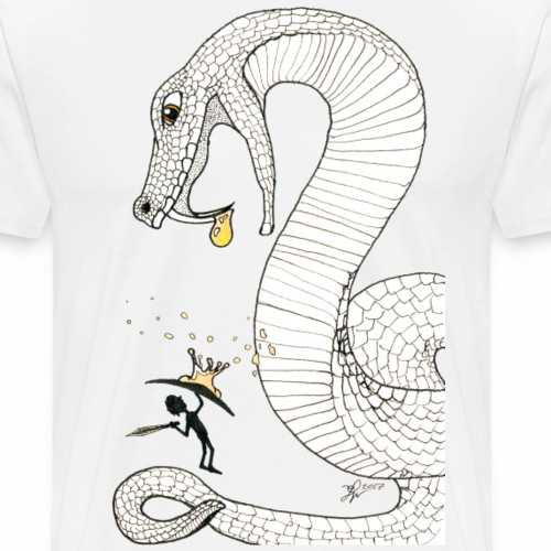 Poison - Fight against a giant poisonous snake - Men's Premium T-Shirt