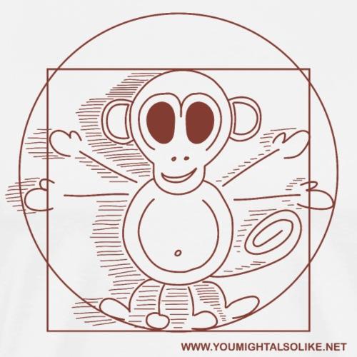 Leonardo's famous Vitruvian Monkey! - Men's Premium T-Shirt