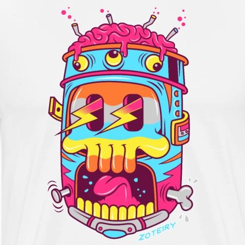 Screaming Skull - T-shirt Premium Homme