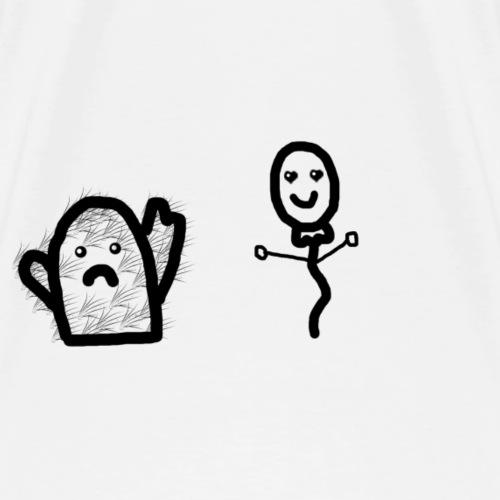 Kaktus+Luftballon=Liebe - Männer Premium T-Shirt