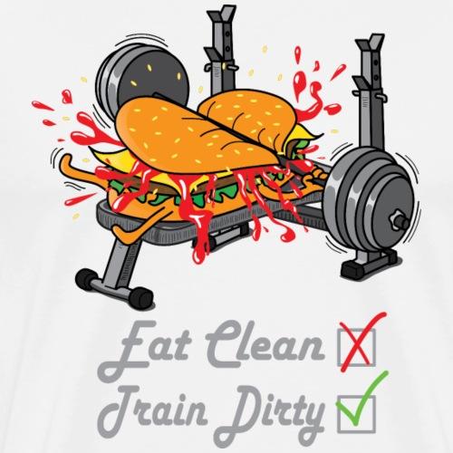 Hamburger Développé Couché Musculation - T-shirt Premium Homme