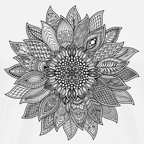Sunflower Mandala - Men's Premium T-Shirt