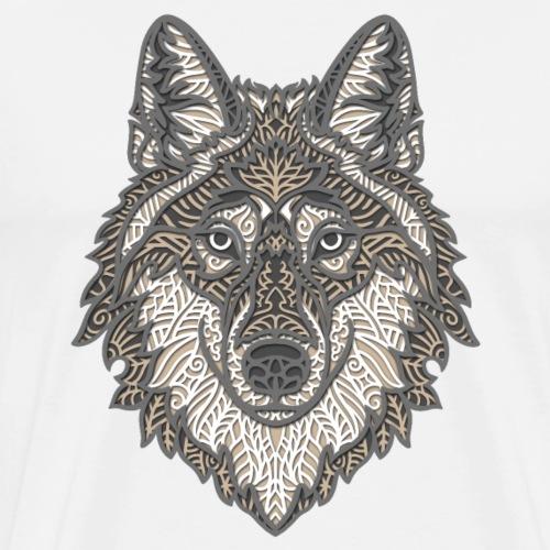 Papercraft Wolf 3D - Men's Premium T-Shirt