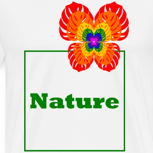 Nature - Butterfly / Flower / Monstera - Men's Premium T-Shirt