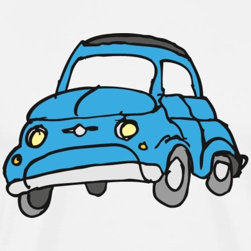 Comic Kleinwagen blau - Männer Premium T-Shirt