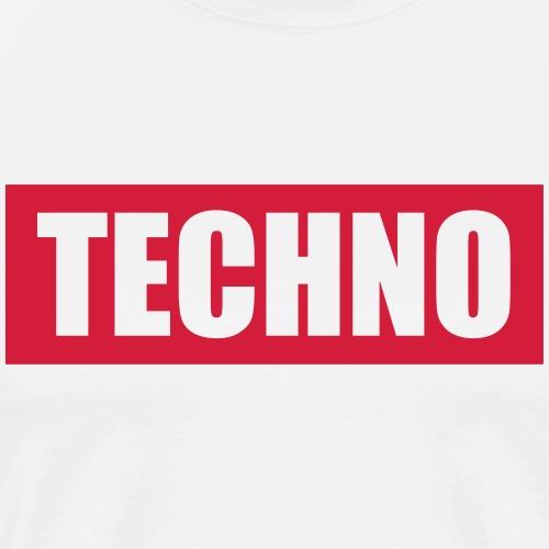 Techno Roter Balken Schriftzug Red Stripes Text - Männer Premium T-Shirt