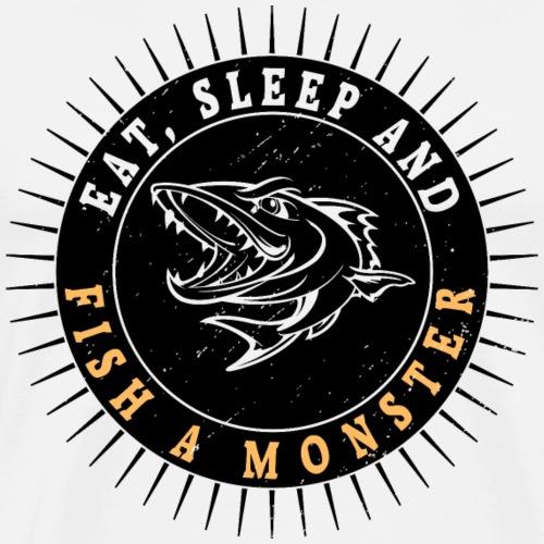 Fish a monster - T-shirt Premium Homme