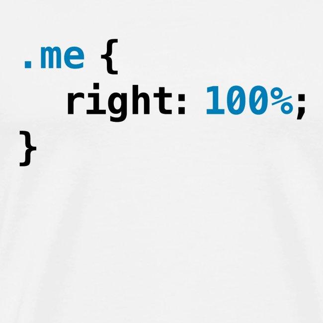 Funny geek - CSS Right 100% Programmer Nerd Tech
