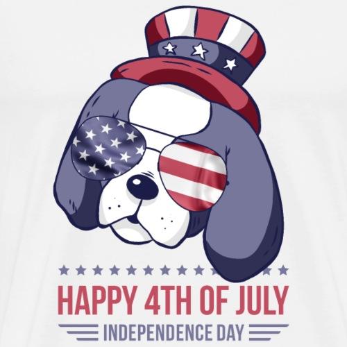 Independence Day Patriot Puppy USA - Männer Premium T-Shirt