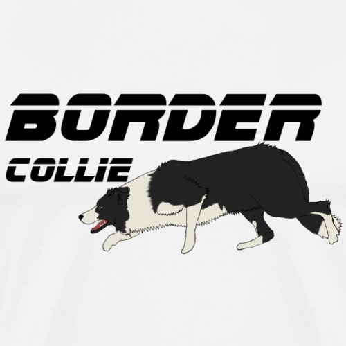 border collie - T-shirt Premium Homme