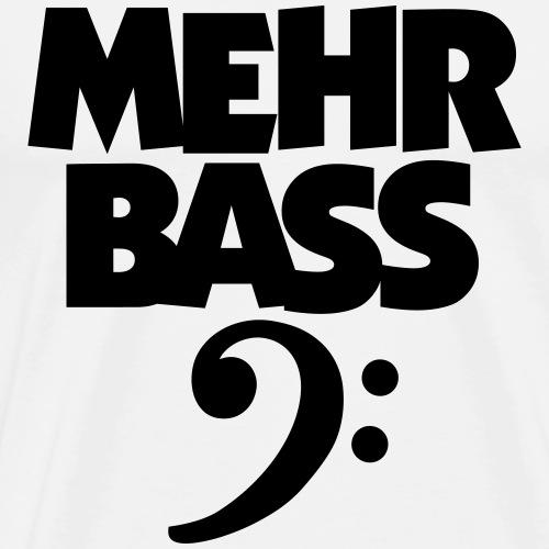 Mehr Bass (schwarz) mit Schlüssel - Männer Premium T-Shirt