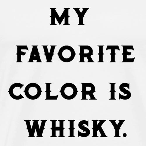 Favorite color whiskey / whiskey fan / gift idea - Men's Premium T-Shirt