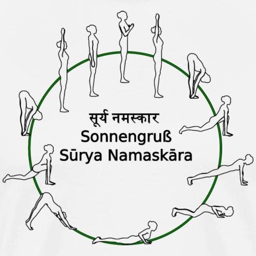 Yoga - Sonnengruß - Surya namaskara - Männer Premium T-Shirt