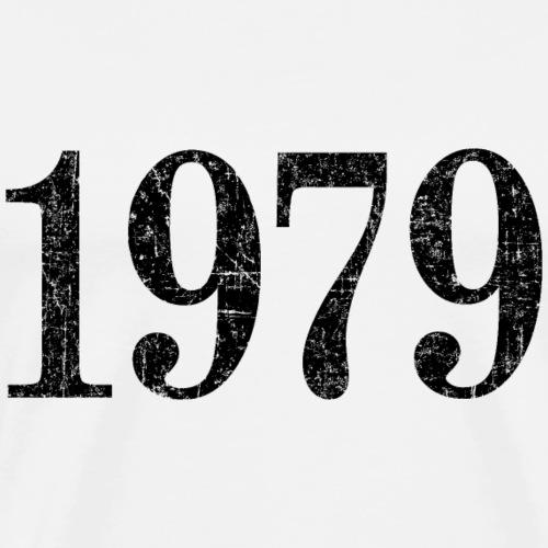 Jahr 1979 Geburtstag (Vintage Schwarz) - Männer Premium T-Shirt