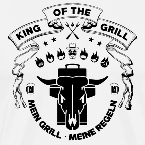 GRILL BADGE KING OF THE GRILL v44S - Männer Premium T-Shirt