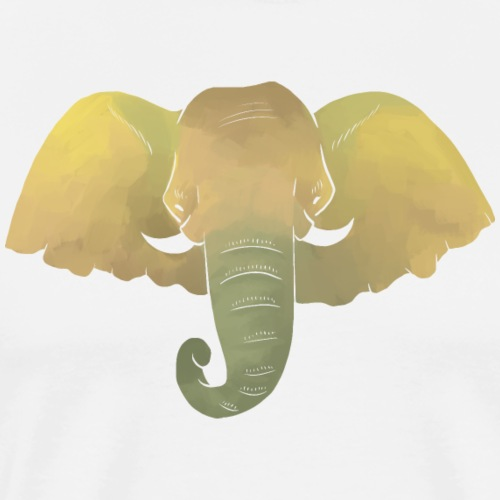 Elefant - Elefantenkopf - Männer Premium T-Shirt