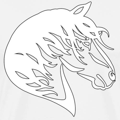 Tribal Horse White - Men's Premium T-Shirt