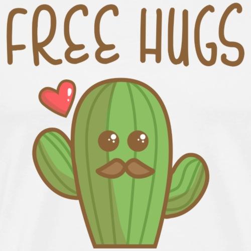 Free Hugs Cactus - T-shirt Premium Homme