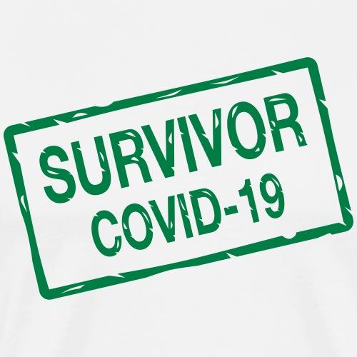 Survivor covid-19 - Miesten premium t-paita