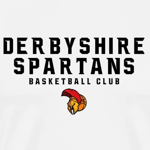 Derbyshire Spartans Basketball Club - Black Text - Men's Premium T-Shirt