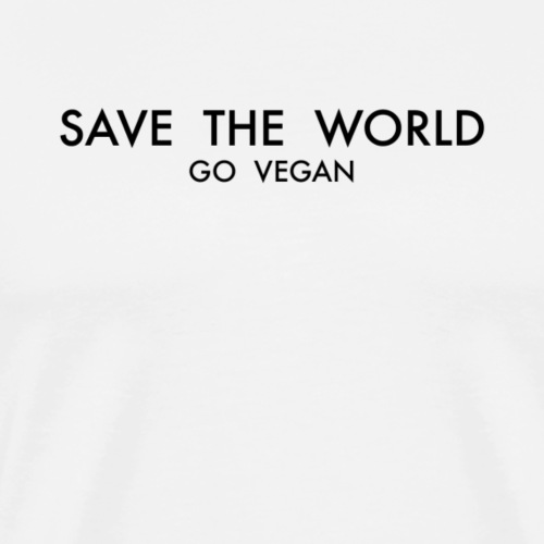 SAVE THE WORLD GO VEGAN - Men's Premium T-Shirt