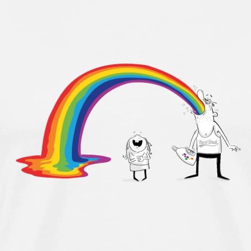 Rainbow Dad - Männer Premium T-Shirt