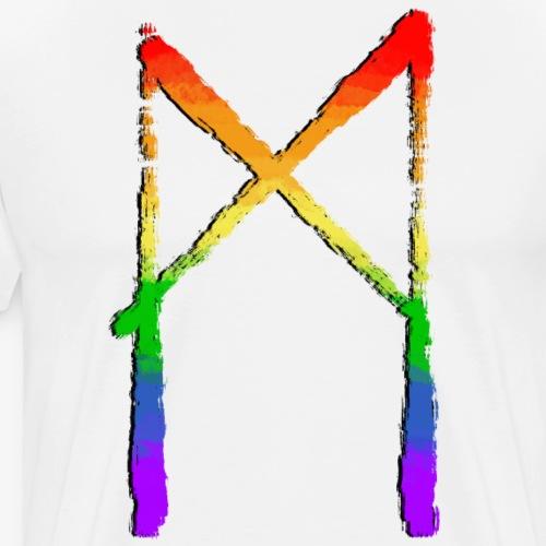 Mannaz #20 Pride By TheRawburt - Premium-T-shirt herr