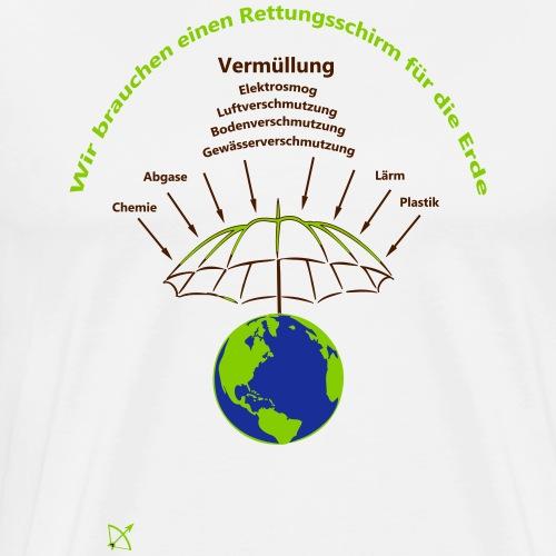Rettungsschirm Erde - Männer Premium T-Shirt