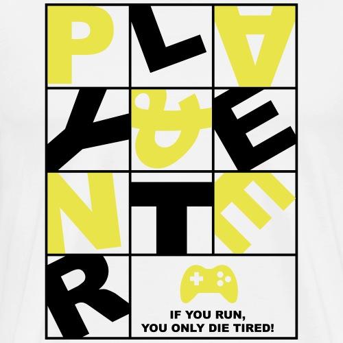 Play and Enter yellow - Männer Premium T-Shirt