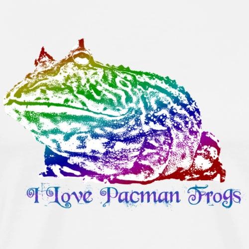 I Love PacmanFrogs - Mannen Premium T-shirt