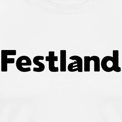 Logo Festland - Männer Premium T-Shirt