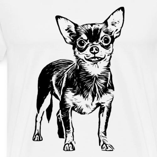 Chihuahua Hunde Design Geschenkidee - Männer Premium T-Shirt