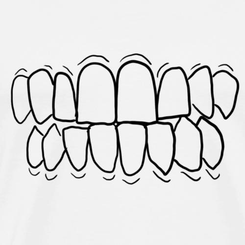 Hampaita! - Miesten premium t-paita