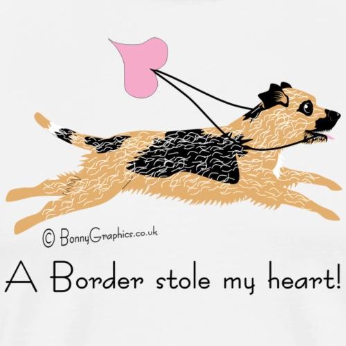 Border terrier thief - Men's Premium T-Shirt