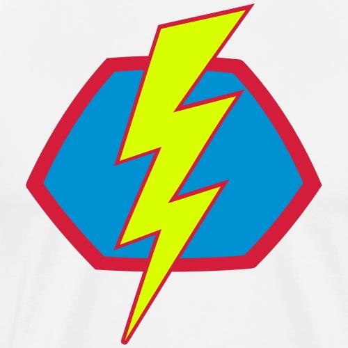 Superhelden Superhero Comic Blitz Symbol - Männer Premium T-Shirt