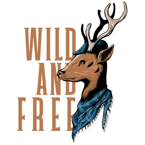 Wild and Free - Männer Premium T-Shirt