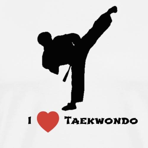 I love Taekwondo - Mannen Premium T-shirt