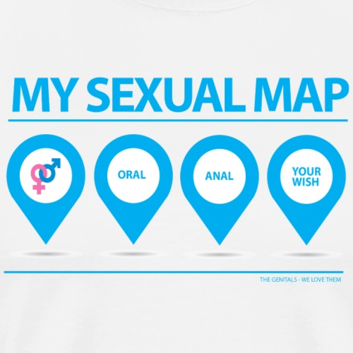 MY SEX MAP HETERO - Herre premium T-shirt