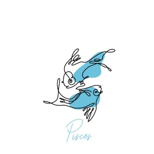 Pisces Zodiac Sign Line Art - Männer Premium T-Shirt