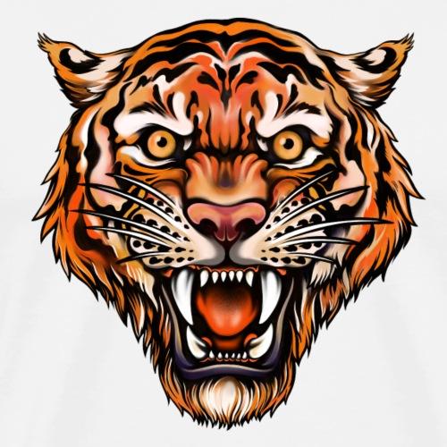 Tiger im Tattoo-Stil - Männer Premium T-Shirt