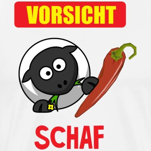 Vorsicht Schaf - Peperoni - Essen - fun4m3 - Männer Premium T-Shirt