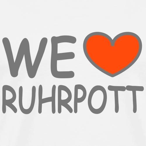 WE ♥ love Ruhrgebiet - Männer Premium T-Shirt