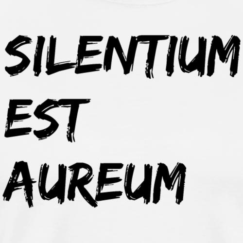 Schweigen ist Gold schwarz Silentium est Aureum - Männer Premium T-Shirt