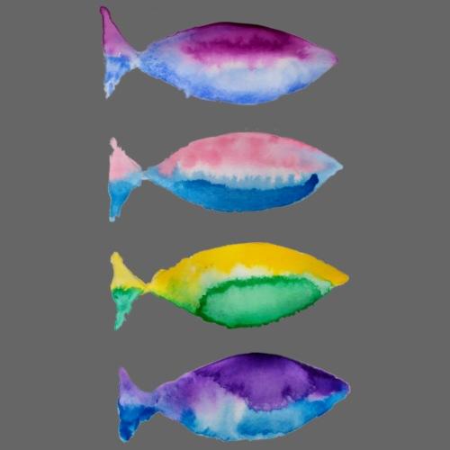 poissons bicolores - T-shirt Premium Homme