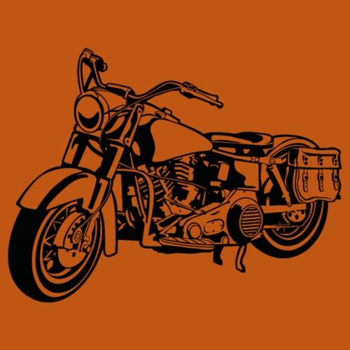 Chopper Motorrad 10_schwarz - Männer Premium T-Shirt