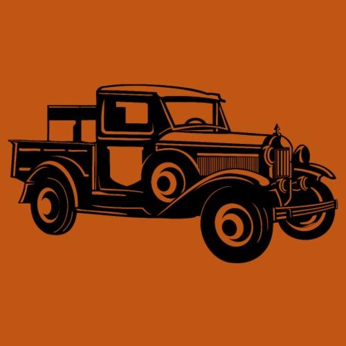 Pickup Oldtimer Truck 01_schwarz - Männer Premium T-Shirt